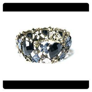 Silver blue bracelet - expandable !